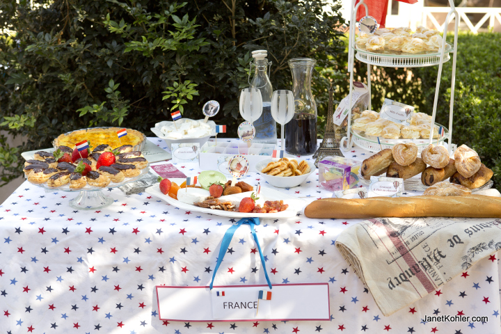 France next stop on our around the world travel party for French inspired party food