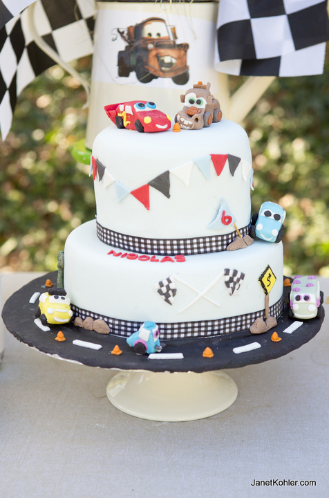 Cars themed party cake