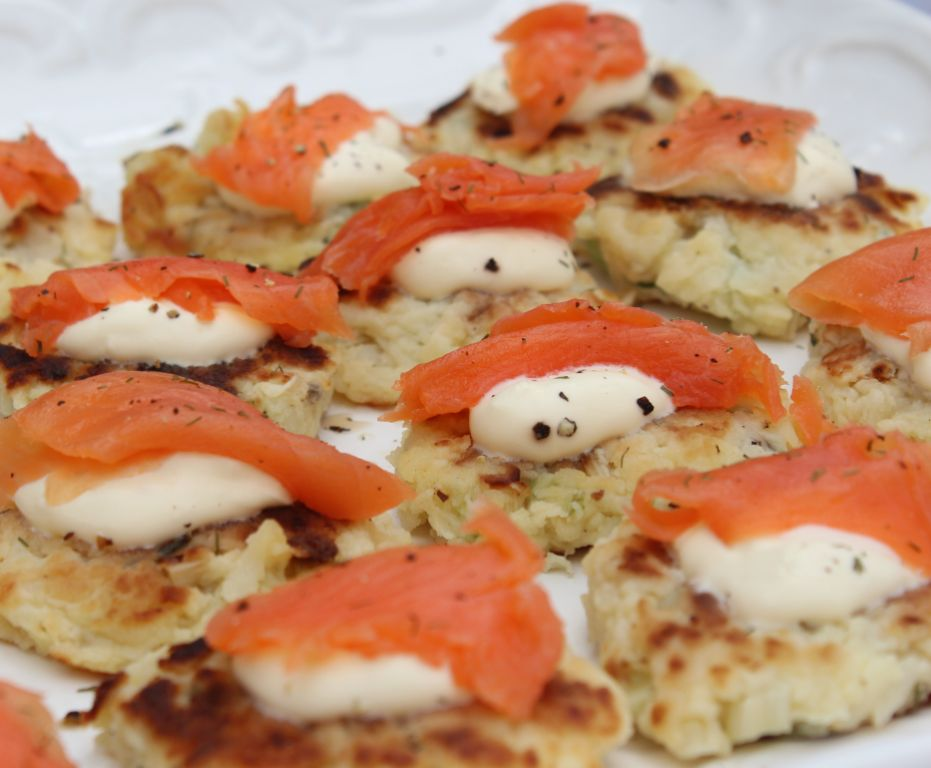 Rösti with smoked salmon and crème fraiche/sour cream: photograph courtesy of Kathleen Hornby Walsh