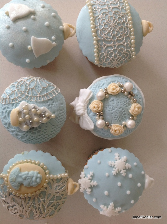 i am dreaming of blue this christmasfor more ideas on how to work with tylose paste and decorate cupcakes see the book perfect parties for ideas and